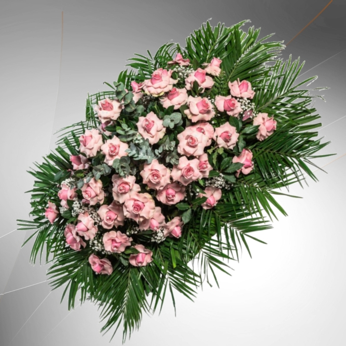 cuscino rose rosa
