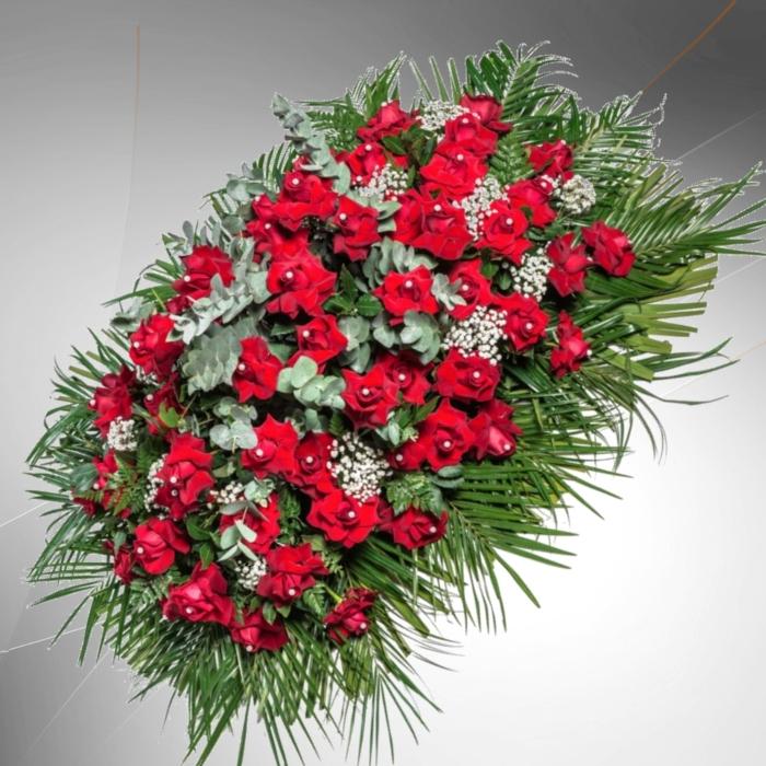 cuscino rose rosse
