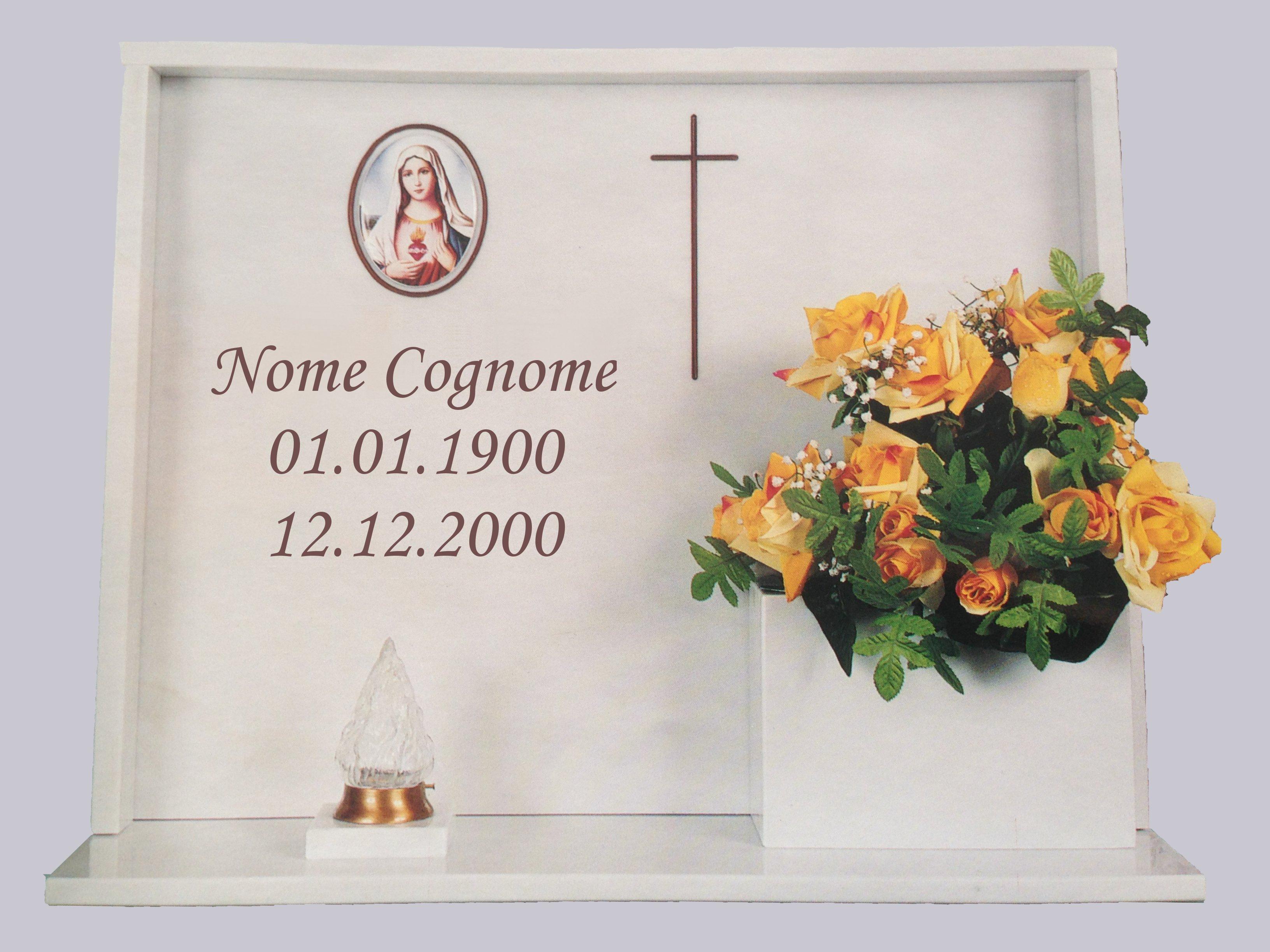 Lapidi cimiteriali roma prezzo lapide completa da euro 290 00 for Arredi cimiteriali